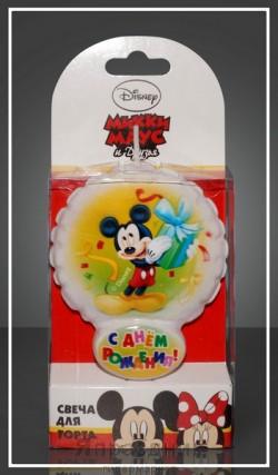 Свеча для торта Воздушный шарик Микки