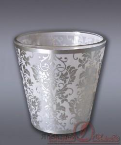 Свеча в стекле ароматизированная узорная м Хамелеон 7805