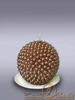Свеча шар жемчужный шоколад 7517