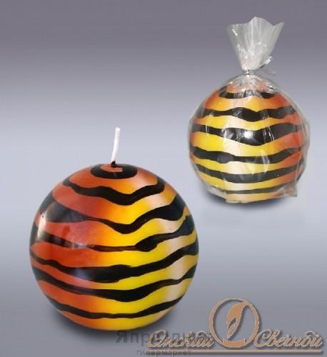 Свеча шар тигровый 6033