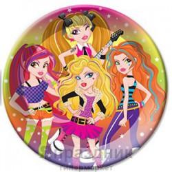 Тарелки бумажные ламинированные Party Girls 6шт 23см