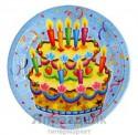 Набор тарелок ламинированных Праздничный торт 23см 6шт