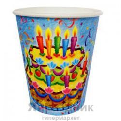 Набор стаканов Праздничный торт 6шт