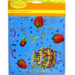 Скатерть полиэтиленовая Праздничный торт 140х180см