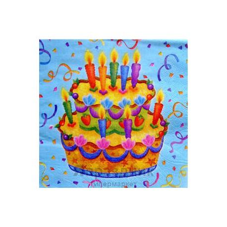 Салфетки Праздничный торт 20шт