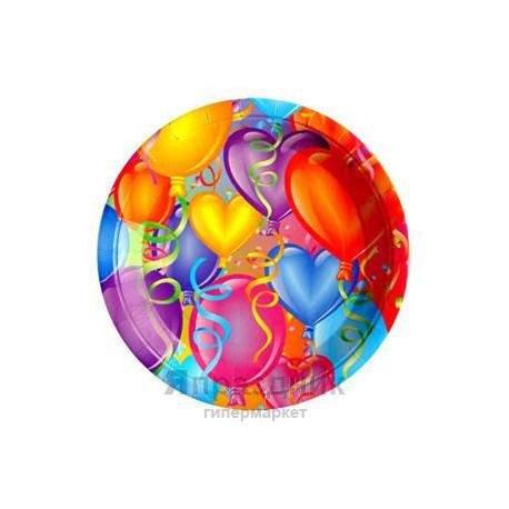 Тарелки бумажные ламинированные Праздничное настроение 6шт