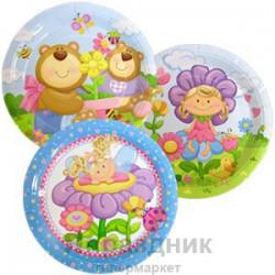 Тарелки бумажные ламинированные Детская коллекция 6шт 23см
