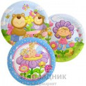 Набор тарелок ламинированных Детская коллекция 23см 6шт