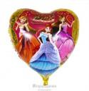 Шар фольгированный Сердце Winx 61см