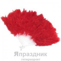 Веер из перьев красный