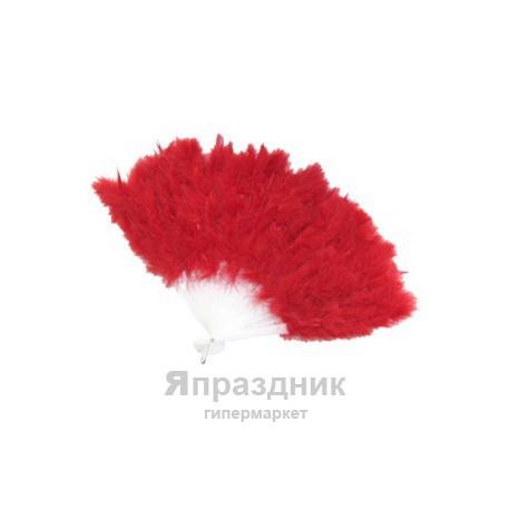 WB Веер из перьев красный
