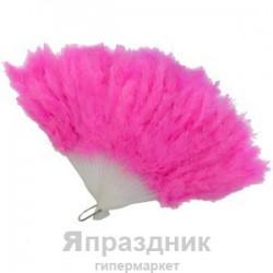 Веер из перьев розовый