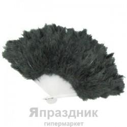 Веер из перьев черный