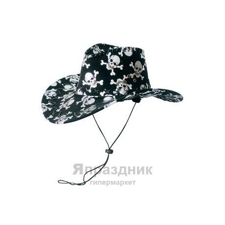 WB Шляпа ковбойская черепа