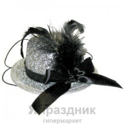 WB Шляпка серебрянная с пером