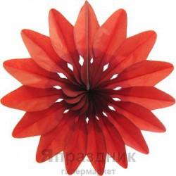 Q Бум укр Цветок Красный 36см